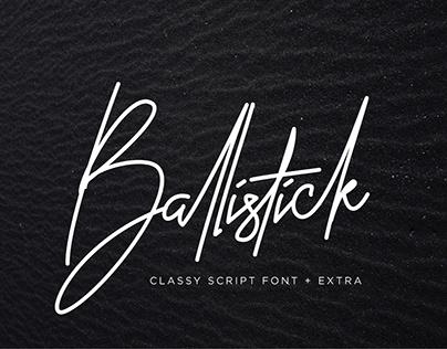Ballistick - Classy Script Font
