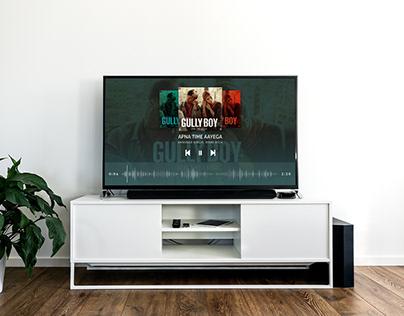Music Player Smart TV Mockup
