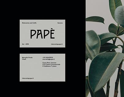 Branding case – Papè restaurant