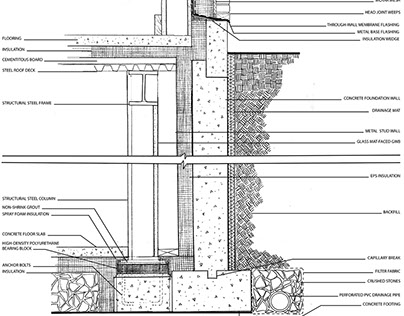 Detail Wall Section Drawing