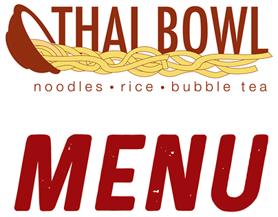 Thai Bowl Menu, Logo and Business Card