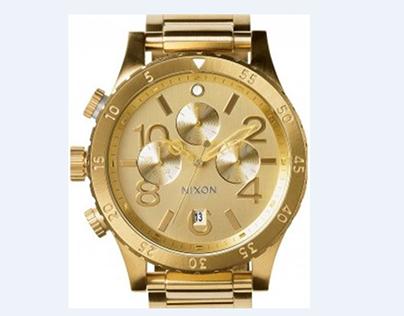 Nixon Quartz Chronograph All Gold Mens Watch