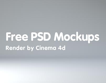 5 Free PSD Mockups (Cinema 4d)