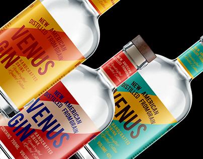 """Venus"" Handmade gin label template."