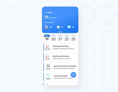 Agenda Management App UI