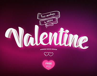 Valentines Free PSD Mockup vol.3