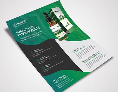 Hemp Product Flyer Template