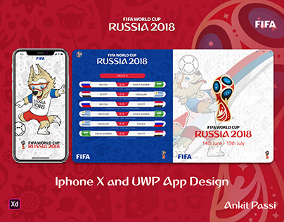 Adobe XD - FIFA World Cup 2018 App Design
