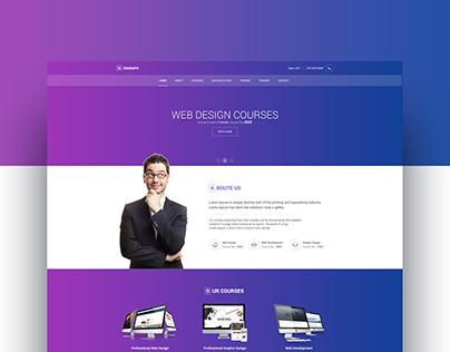 Webgraph - Web Design Training Center Template Design.