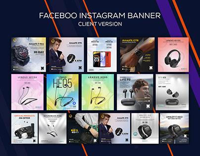 Gadget Social media web banner templates