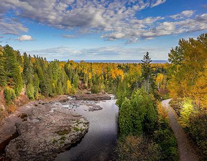 Gooseberry Falls in Autumn