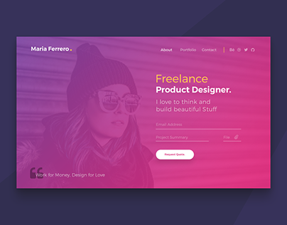 Ferrero Landing Page Template - Free