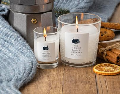 Sheiling candle company logo design