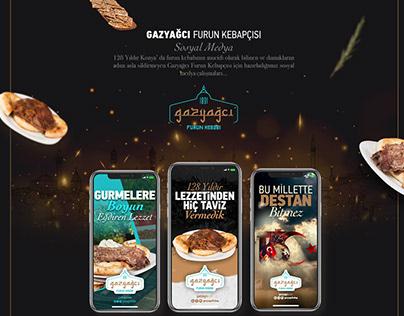 Gazyağcı Furun Kebabı Sosyal Medya Çalışmaları