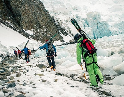 Ski mountaineering in Antarctica