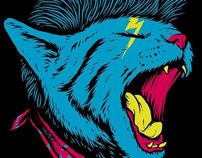 Cat Punk t-shirt design