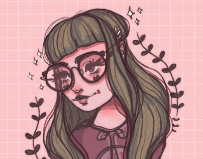 Foliage girl.