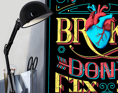 Heart Typography