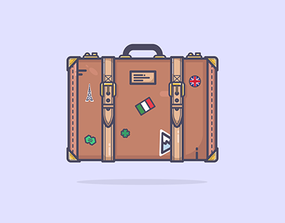 Illustrations _01 - Luggage and Bags