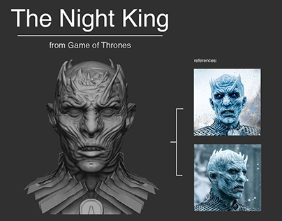 The Night King's bust from Game of Thrones.