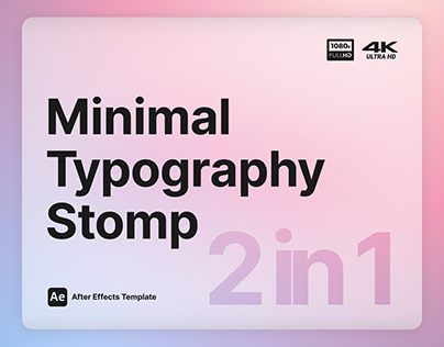 Minimal Typography Stomp - After Effects Template