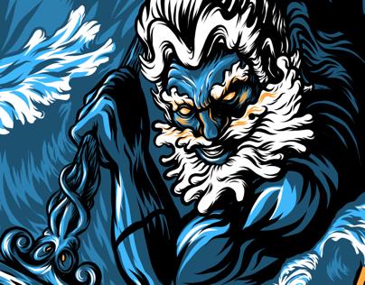 Poseidon - The Perfect Storm - Adobe Draw process