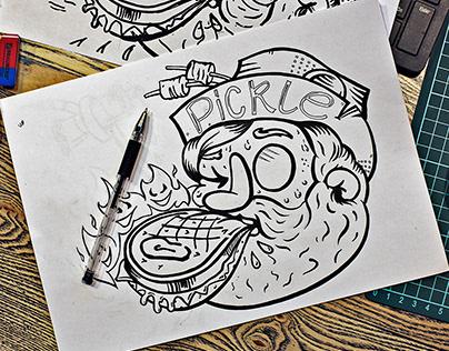 Логотип для кафе Маринадный Джо