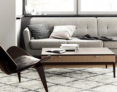 Design and visualization for the furniture salon