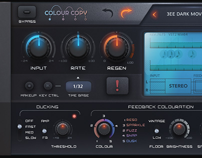 Vst plugin skin for audio gui design