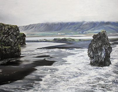 Vic Beach in Iceland