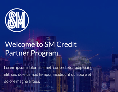 SM Credit Card Partner Program Landing Page