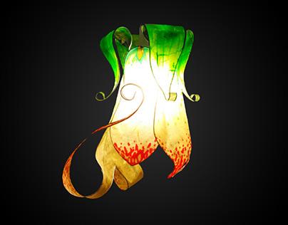 """Pisum ferox"" elven flower lampshade"