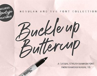 Buckle up Buttercup Market Font