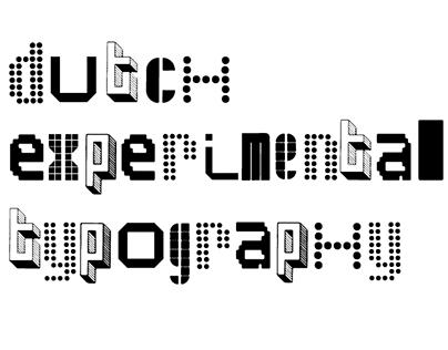 Digital Magazine - Dutch experimental typography