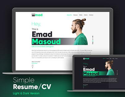 Simple Resume/CV Website