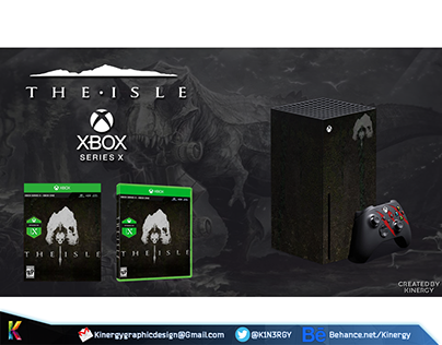 The Isle - Xbox Series X Console & Game Case Mock up