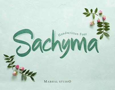 Sachyma | Handwritten Font