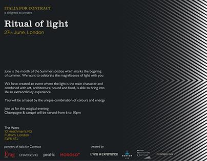 Ritual of light flyer