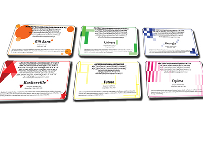 typographic learning cards