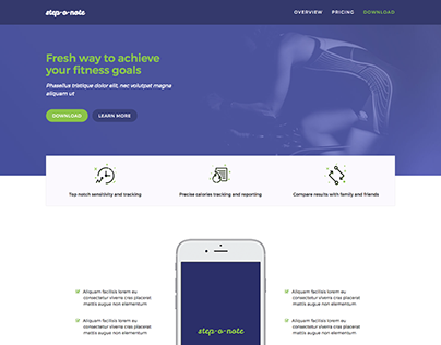 Landing Page Project / Fitness App