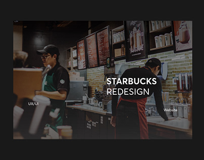 Starbucks Redesign UX\UI Website
