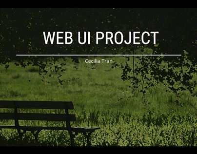Web UI Project for Interview