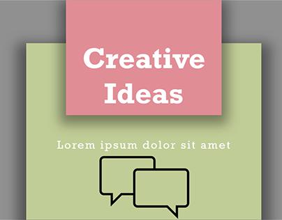 Pastel Creative Ideas PowerPoint Template