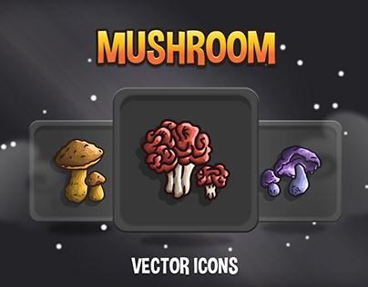 Mushroom RPG Icon Collection