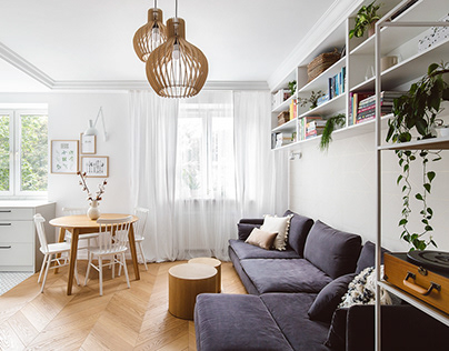 kroniki • Scandinavian style Mokotow apartment
