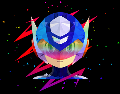 Low Poly Art - Megaman