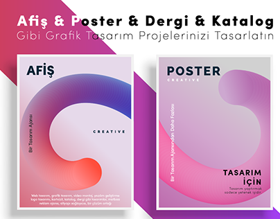 Afiş & Poster & Dergi & Katalog vb Baskı ve Tasarım