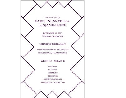 C.S. & B.L. Wedding Planner