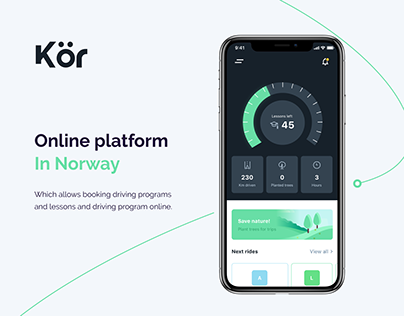 Mobile app design - Get your license with Kör