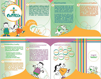 Brochure for colors for kids product